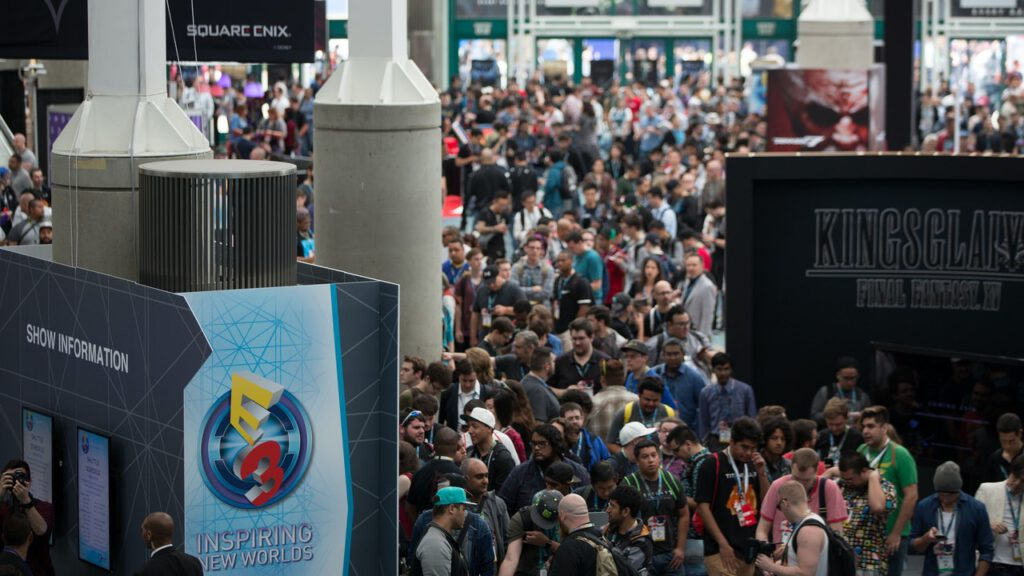 Crowd at E3 2017, when it was still a physical event.